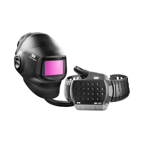 3M Speedglas Svetshjälm G5-01 med Svetsglas med variabel färg G5-01VC och 3M Adflo, 617830