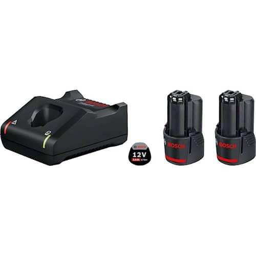 Bosch Batteri & snabbladdare startpaket 12V 2st 3Ah & GAL 12V-40