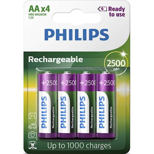 Philips Batteri AA 2500 mAh 4-pack