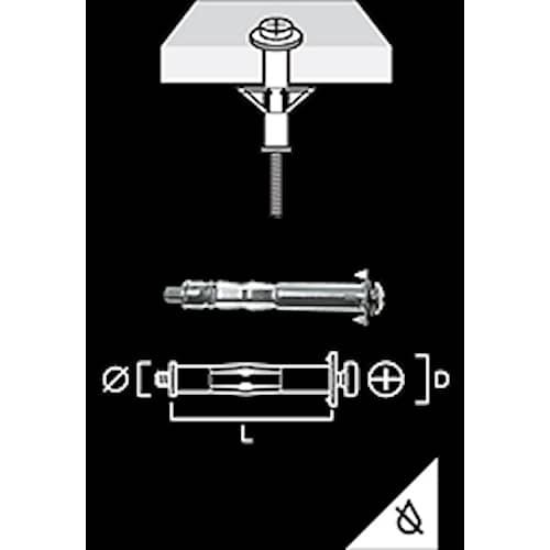 Gunnebo Fastening Mollyplugg/Metallexpander M6-52 50 pack