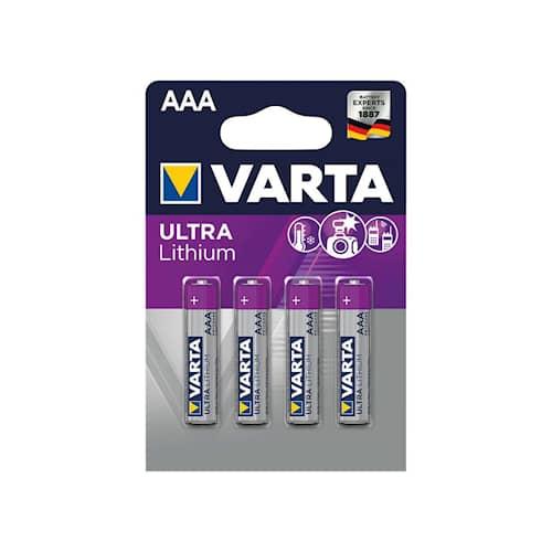 Varta Batteri AAA litium 4st/frp