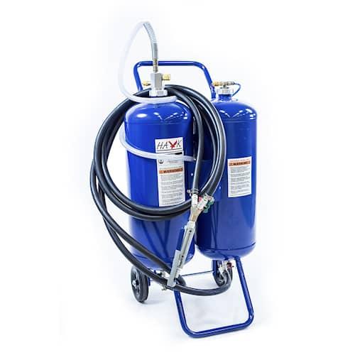 Hawk Blästertank dubbel soda och sand 18x2 liter