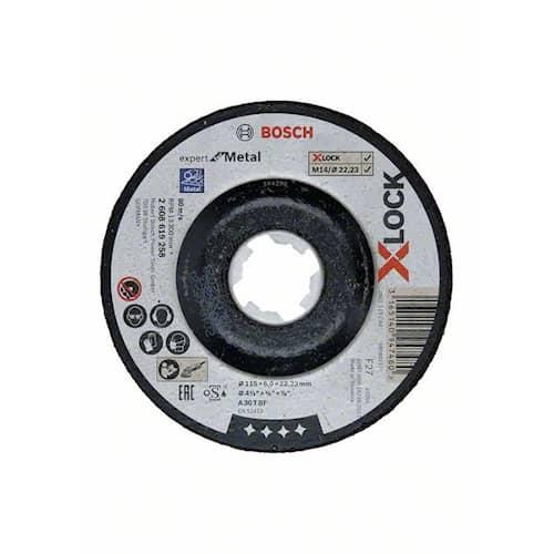 Bosch Kapskiva X-LOCK Expert for Metal 115×6×22,23 mm nedsänkt slipning