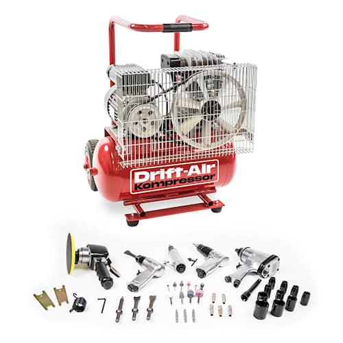 Drift-Air  Kompressor E 300 M 24 med 5 tryckluftsmaskiner och 45 tillbehör