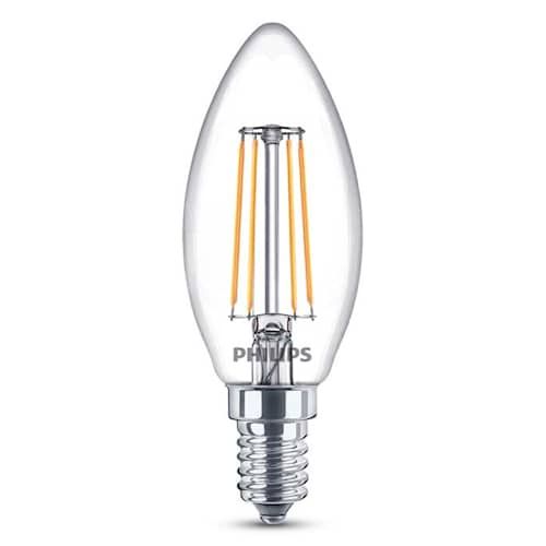 Philips Kronlampa 4W LED (40W) E14 470LM klar