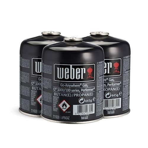 Weber Engångsgasolflaska 17669 445g 3-pack