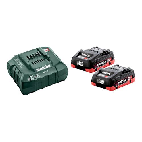 Metabo Batteri & laddare 18V 2xLiHD 4,0Ah