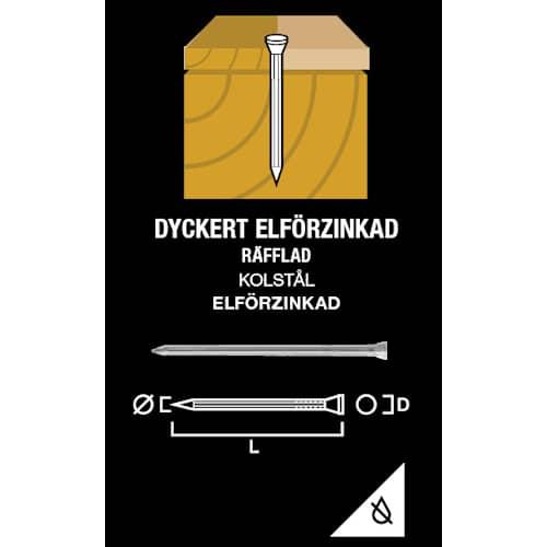 Gunnebo Fastening Dyckert Elförzinkad 50-2,0 500-pack