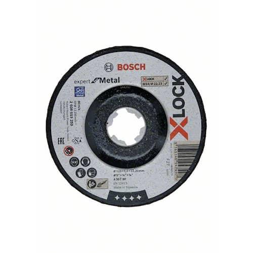 Bosch Kapskiva X-LOCK Expert for Metal 125×6×22,23 mm nedsänkt slipning