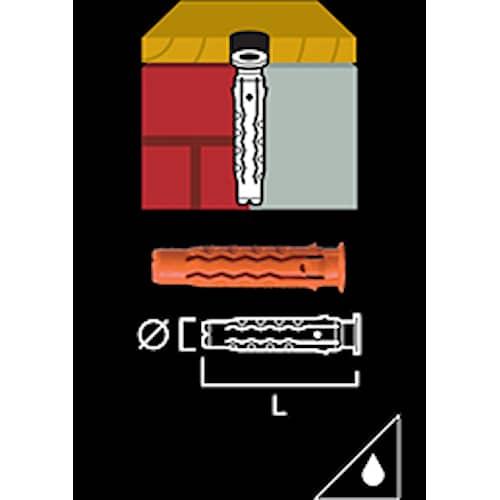 Gunnebo Fastening Universalplugg MQ 8-40 100 pack