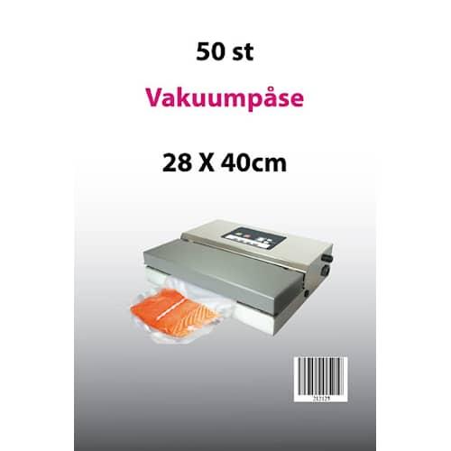 Genzo Vakuumpåsar till Vakuumförpackare 28x40 50-pack