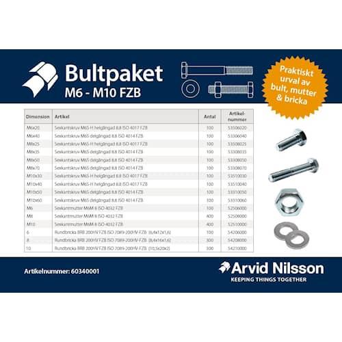 Arvid Nilsson Bultpaket M6 - M10 FZB
