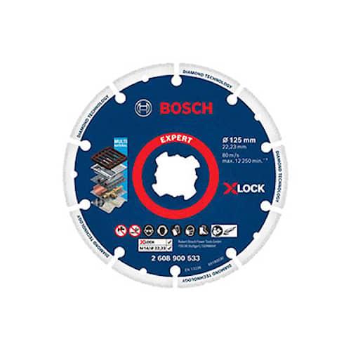 Bosch Diamantkapskiva X-LOCK för metall 125x22.23mm