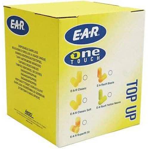 3M E-A-R Classic Hörselproppar i refillpåse, 28 dB, 500par/frp, PD-01-009