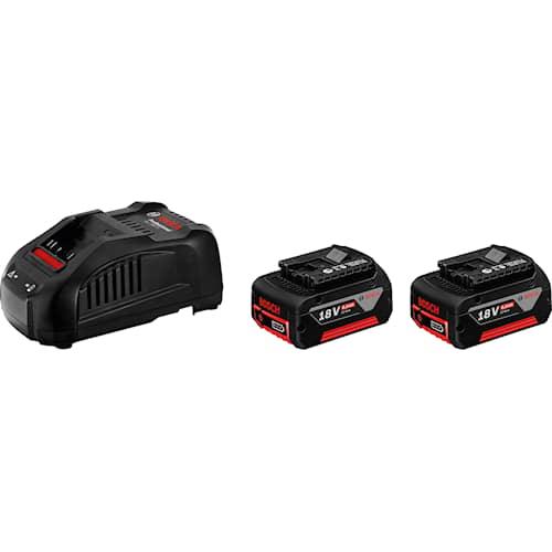 Bosch Batteri & snabbladdare startpaket 18V med 2st GBA 6Ah & GAL1880 CV