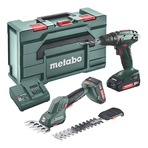 Metabo Verktygspaket Combo Set 18V BS 18, SGS 18 LTX Q  med 2st LiPower batterier & laddare SC 30