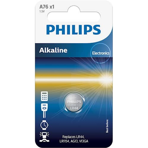 Philips Battericell Lithium LR44