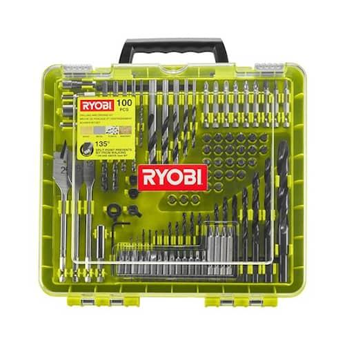 Ryobi RAKDD100 Borr- & bitssats 100 delar