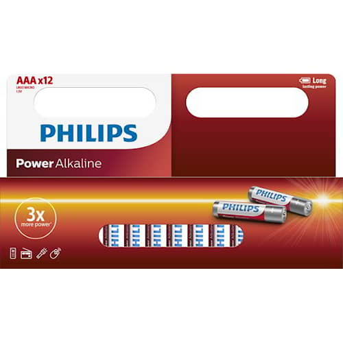 Philips Batteri Power AAA/LR03 12-pack