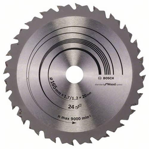 Bosch Sågklinga Speedline Wood 165x1,7x20mm 24T