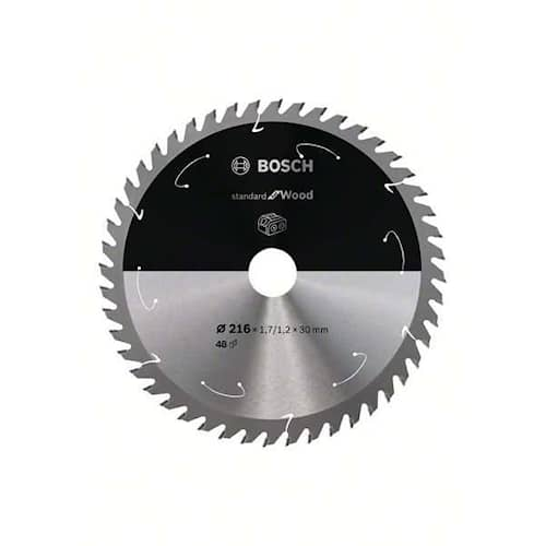 Bosch Sågklinga Standard for Wood 216×1,7/1,2×30mm 48T