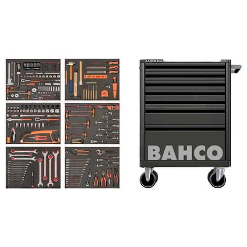 Bahco Verktygsvagn 1472K7 Svart med 7 lådor och 341 verktyg