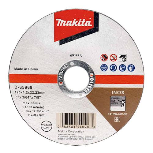 Makita Kapskiva D-65969-12 125x1.2x22,23mm Inox